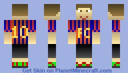 Lionel Messi FC Barcelona soccer Minecraft Skin