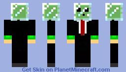 Glass Head Slime Minecraft Skin