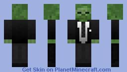 Gentleman Zombie Minecraft Skin