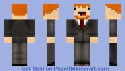 The derped Business man Minecraft Skin