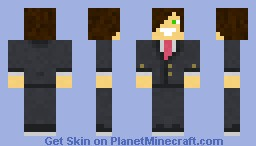 Teen in suit Minecraft Skin