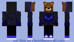 epic blue bear with stuffs on his hands Minecraft Skin