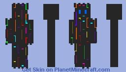 Rainbow lines Minecraft Skin