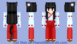 Neko Miko | Anime wallpaper Minecraft Skin