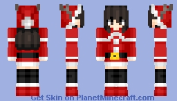Merry ☃️ Christmas  | Create Anime style Minecraft Skin