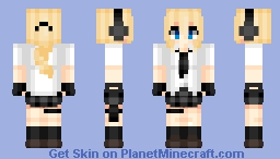 Gun girl (the first) | Create Anime style Minecraft Skin