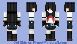 Gun girl (the next) | Create Anime style Minecraft Skin