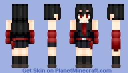 Akame (赤目) | Akame ga kill (アカメが斬る!) | Anime cartoon Minecraft Skin