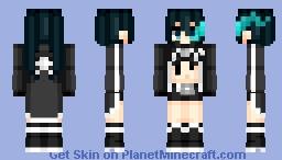 Mato Kuroi (黒衣マト) | Black Rock Shooter (ブラック★ロックシューター) | Anime cartoon Minecraft Skin
