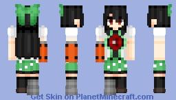 Reiuji Utsuho (霊烏路 空)/Okuu (お空) | Touhou (東方) Project | Anime game Minecraft Skin