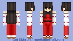 Sendai Hakurei no Miko (先代博麗の巫女) | Touhou (東方) Project (unofficial)/M.U.G.E.N | Anime game Minecraft Skin