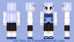 Kafuu Chino (香風 チノ)   Gochuumon wa Usagi Desu ka? (ご注文はうさぎですか?)   Anime manga/cartoon Minecraft Skin