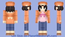 Nadeko Sengoku (千石 撫子) | Bakemonogatari (化物語) | Anime cartoon Minecraft Skin