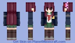 Kisaragi (如月改) (Kai-II) | KanColle (艦これ) | Anime game/cartoon Minecraft Skin