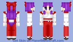Hakurei Reimu (博麗 霊夢) (Classic) | Touhou (東方) Project | Anime game Minecraft Skin