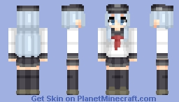 Hibiki (響) | KanColle (艦これ) | Anime cartoon/game Minecraft Skin