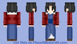 Ryougi Shiki (Assassin) (両儀式) | Fate/Grand Order (フェイト/グランドオーダー) | Anime game Minecraft Skin