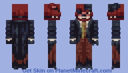 Withered Foxy   suited Minecraft Skin