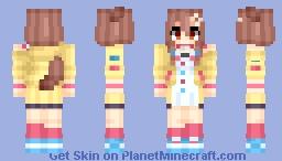Inugami Korone 🥐 (戌神ころね 🥐) | Hololive Production (ホロライブプロダクション) Minecraft Skin
