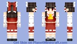 Hakurei Reimu (博麗 霊夢) (Remake) | Touhou (東方) Project Minecraft Skin