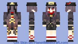 Hu Tao(Genshin Impact) Minecraft Skin