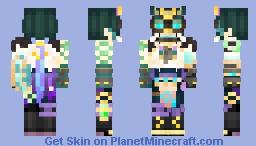 Xiao masked (Genshin Impact) Minecraft Skin