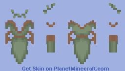 Elven Maiden with Gloves Base Minecraft Skin