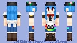 Hinanawi Tenshi (比那名居 天子) (Remake) | Touhou (東方) Project Minecraft Skin