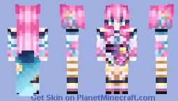 Spirit Blossom Ahri (League of Legends) Minecraft Skin