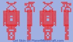 WATER MELON BLOOD w/rectanguls und oles Minecraft Skin