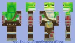 Frog-warrior (commision) Minecraft Skin