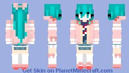 Hatsune miku ribbon girl Minecraft Skin