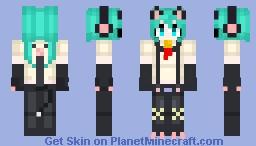 Miku Kitty cat Minecraft Skin