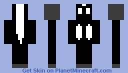 skunk skin Minecraft Skin