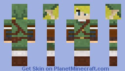 Link from legend of Zelda Skyward sword Minecraft Skin