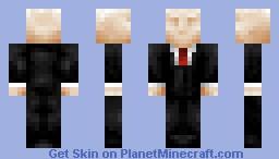 The Slender Man Minecraft Skin
