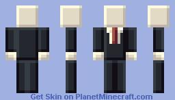 Slender - Tiny Pixels Style Minecraft Skin