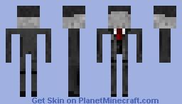 Slender Man (Not Enderman) Minecraft Skin