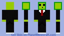 Slime Big Head Minecraft Skin