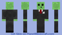 Slime in a suit. Minecraft Skin
