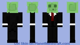 Slime with suit Minecraft Skin