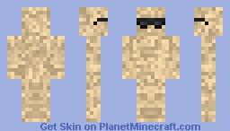 Cool sand man Minecraft Skin