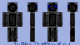 Slime Person Black 01 Minecraft Skin