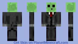 Slime in a Suit Minecraft Skin