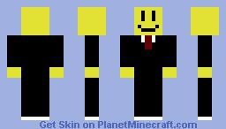 Smiley in black suit Minecraft Skin