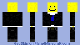 smiley in a suit Minecraft Skin