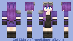 Black and Purple Blacksmith girl Minecraft Skin
