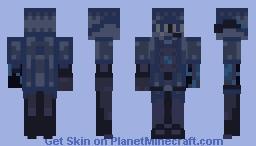 Power-saving mode Hologram JamesTDG - entry for Ze One-Color Only Contest Minecraft Skin