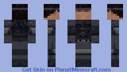 Metal Gear Solid Intergral - Solid Snake Minecraft Skin