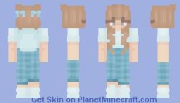 soft blue Minecraft Skin